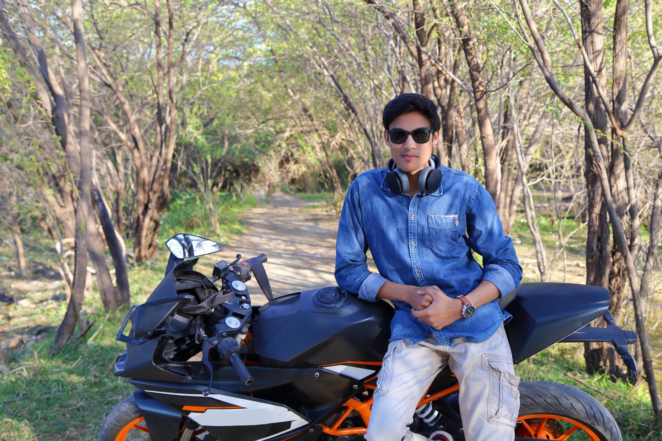 wear headphones on a motorcycle